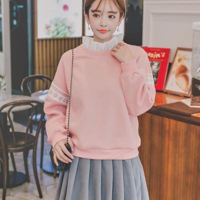 恩黛 可爱卫衣女韩版2017冬季新款小清新甜美学生软妹宽松上衣 Q047F6161