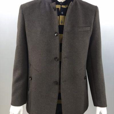 冬季新款中年爸爸装 加厚夹克外套201519(毛领可拆)