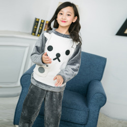 一件代发儿童睡衣女童秋冬款长袖圆领小女孩学生中大童韩版家居服