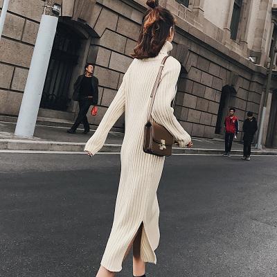 【10】恩黛 秋冬新款韩版中长款修身套头毛衣裙连衣裙打底显瘦针织裙子 Q047F6190