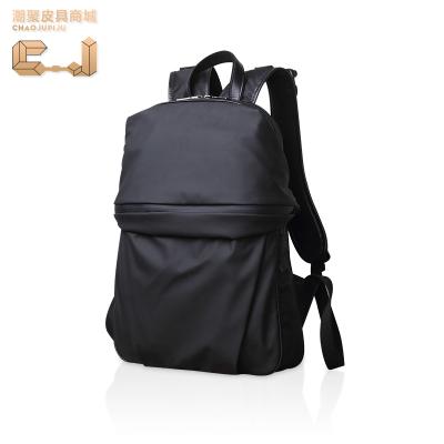 潮聚 韩版商务时尚休闲大容量男士双肩包CJ17006