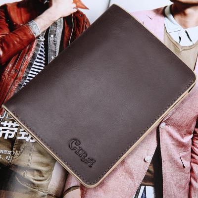 【8.31直播款】斯诺 韩版新款复古男士真皮短款钱包C80322