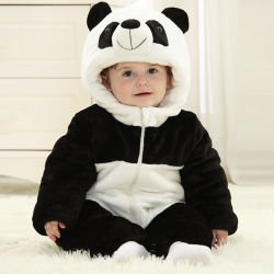 婴幼儿冬季夹棉连体衣服宝宝动物造型爬服儿童冬天外出服加厚冬装