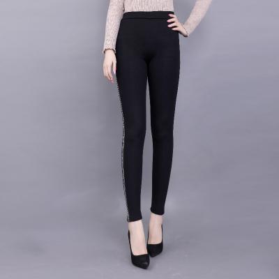 鸿秀2017年新款上线时尚铅笔裤女裤修身显瘦6016