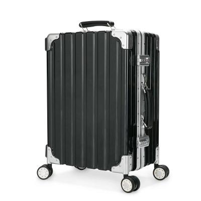 宾致 铝合金行李箱化妆箱拉杆旅行化妆品收纳登机箱大容量多功能万向轮纯pc化妆旅行箱