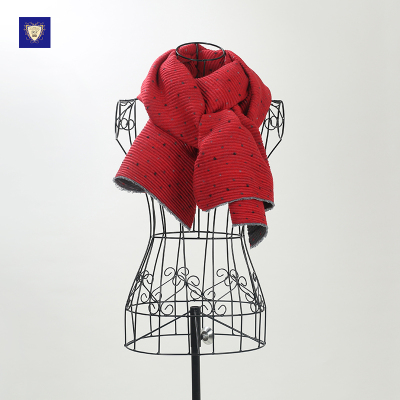 御勋 韩国休闲点子横条压绉款时尚潮流围巾 YX113