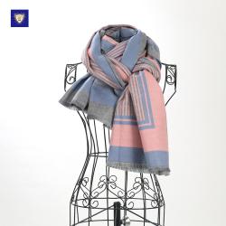 御勋  拉毛英格兰条纹款时尚潮流围巾 YX127