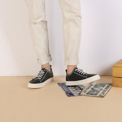 2017新款秋季男鞋透气真皮小白鞋韩版平底休闲鞋时尚百搭系带板鞋