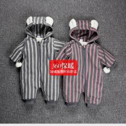 一件代发加绒加厚男女宝宝爬爬服大码婴儿童保暖连体睡衣春秋冬款