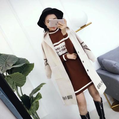 【12号】大都市 2017冬装新款加厚貂绒外套中长款女装韩版潮连帽开衫上衣保暖大衣 522