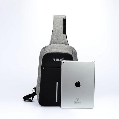 宇洛USB充电防盗胸包男时尚潮流斜挎包男单肩包男士小背包YL3013