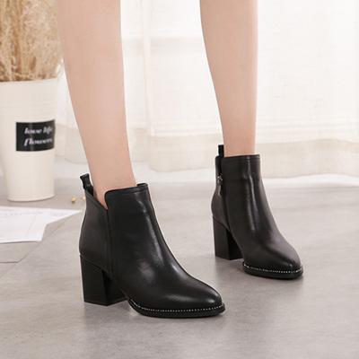 诗妙丽 秋冬韩版气质保暖舒适女靴短靴 186L-11 短靴