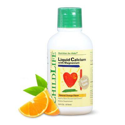 美国原装进口童年时光Childlife 婴幼儿液体钙镁锌补充液 474ml
