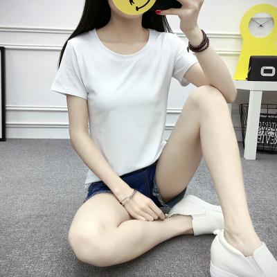 珂织珂索 2018新款净色纯棉院领短袖T恤 V03
