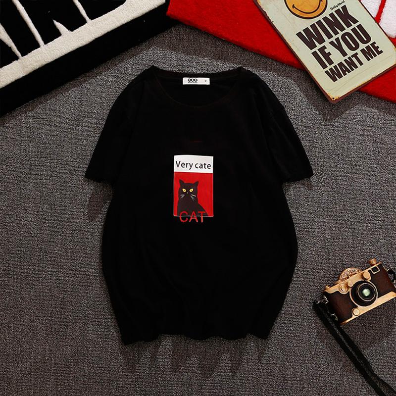 瓦费熊 英文猫短袖T恤 W187...