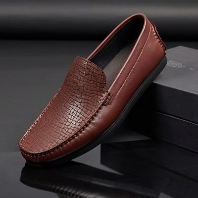 金博驰 商务休闲头层牛皮舒适气质男士休闲鞋 7X33-3B