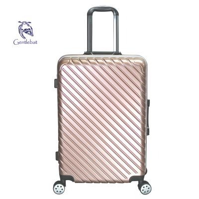 傲世箱包 韩版时尚大容量铝框款万向飞机轮旅行箱拉杆箱ABS+PC壳浅框斜纹