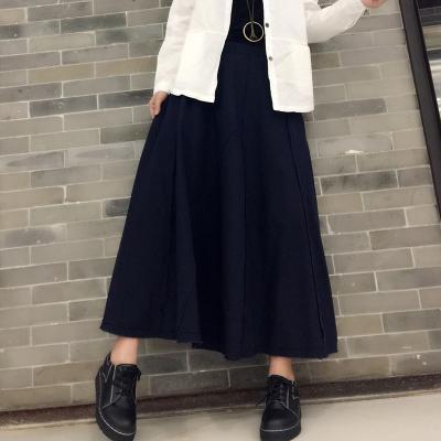 颜美8 2018新品春款棉麻休闲半身裙 1012