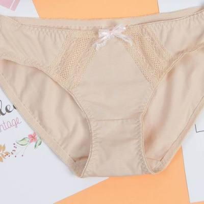 曼儷兒 舒适内裤女式低腰纯色底裤简约棉质女生三角裤