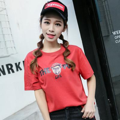 风之信 2018春款新品时尚圆领短袖T恤 808