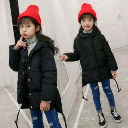 一件代发儿童冬季棉袄中长款棉服中大童韩版女童棉衣2017新款冬装