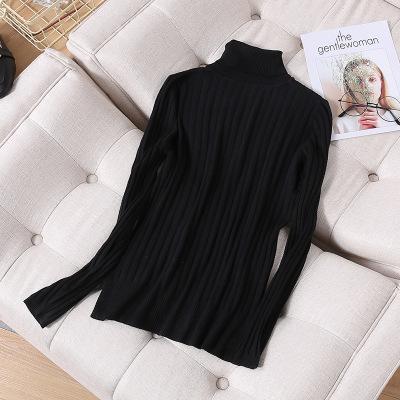 厂家批发新品舒适套头薄毛衣 女装毛衣 时尚纯色高领长袖针织衫 303