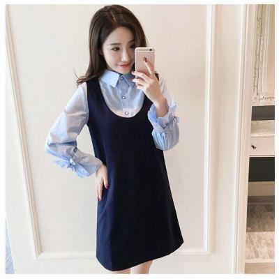 2018年新款上新蝴蝶结连衣裙