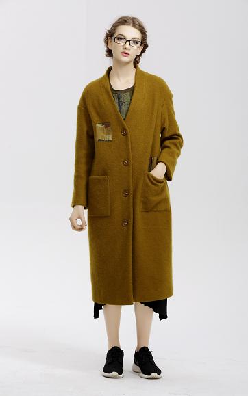 【直播秒杀款-208包邮】例外初语 2018新款时尚羊毛毛呢外套 L164003278