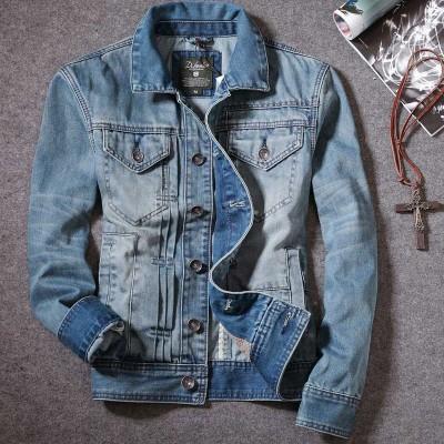 第八道 新款时尚休闲牛仔外套加纯棉里布折叠设计 3330