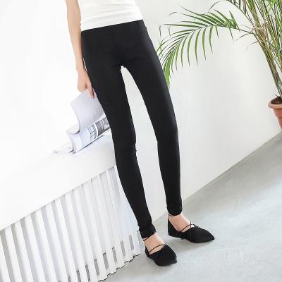 APP女裤2017夏新款黑色弹力修身显瘦韩版铅笔小脚裤外穿百搭长裤