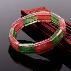 草莓晶红萝手镯带手链