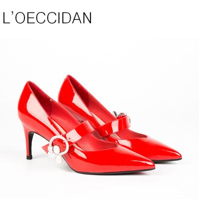东琪【预售,慎拍】新品钻扣尖头女鞋细高跟17306-51