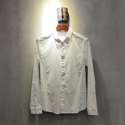 2018年春夏款上新时尚白色衬衫男装长袖商务衬衫1897#
