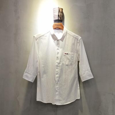 圣达伦 2018年新款上新时尚新款七分袖衬衫男士A1897