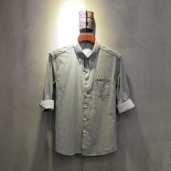 圣达伦 2018年新款上新时尚新款七分袖衬衫男士A1898