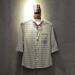 圣达伦 2018年新款上新时尚新款七分袖衬衫男士A1936#