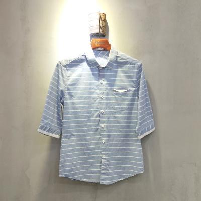 圣达伦 2018年新款上新时尚新款七分袖衬衫男士A1943