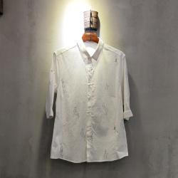 圣达伦 2018年新款上新时尚新款七分袖衬衫男士A1950#