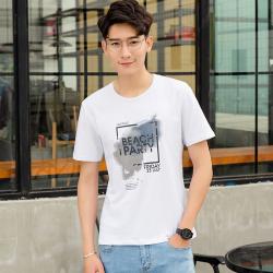 达昇 2018新款时尚简约潮流型男潮男短袖T恤 D116