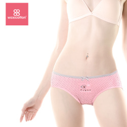 WIDECOTTON 内裤组合套装3条装青春系列中腰三角裤 6016