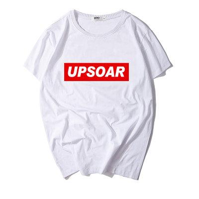 情侣装夏装白色T恤女短袖半袖新款2018潮韩版宽松潮牌黑色上衣S1801
