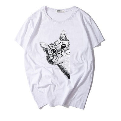 情侣装夏装白色T恤女短袖半袖新款2018潮韩版宽松潮牌黑色上衣S1802