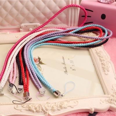 千隆 苹果iPhone7彩色手机链 手机壳相机卡套胸牌钥匙彩色挂脖编织长绳