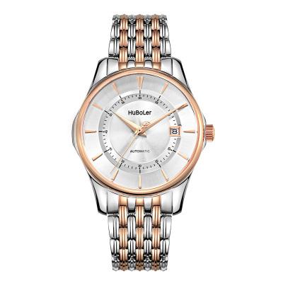 衡宝罗正品手表全自动机械精钢表三字位日历超强夜光指针显示腕表