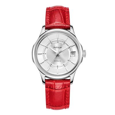 衡宝罗手表全自动机械精钢表三字位日历超强夜光指针显示皮带腕表