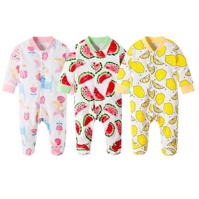 丹劳尔 婴儿长袖宝宝婴儿连体衣装新款春夏新生儿长袖哈衣爬服 Y2021