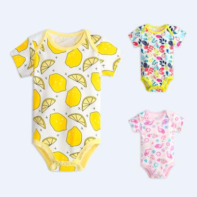 丹劳尔 婴儿连体衣夏装纯棉宝宝短袖哈衣薄款夏季新生儿衣服 Y2019