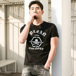 久昂时尚 2018新款时尚简约潮流型男士高端圆领T恤 1822