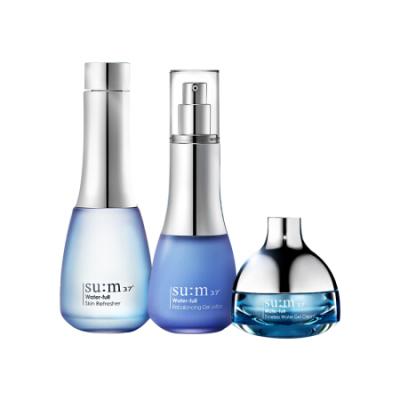 韩国sum37时光能量护肤保湿水乳霜套装孕妇可用 呼吸水漾清润蓝色套盒
