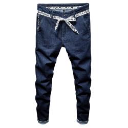 2018春夏新款韩版弹力透气蓝色休闲牛仔裤HC8018